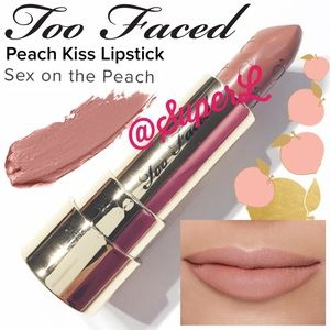 2/$15 Too Faced Sex On The Peach Kiss Lipstick